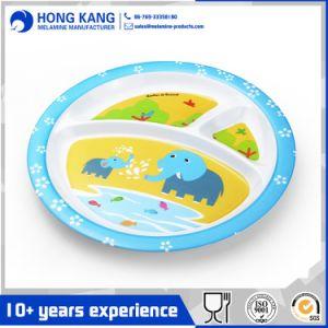 La impresión de la cena de la placa de plástico de vajillas de melamina