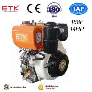 14HP enige Diesel van de Cilinder Motor met de Dieselmotor van de Schacht van de Spiebaan