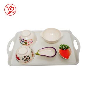 As tentações de atacado direto da fábrica de melamina coloridos Dinnerware definido para jantar