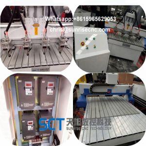 Router di CNC della macchina di falegnameria con la Tabella di vuoto dei 4 assi di rotazione