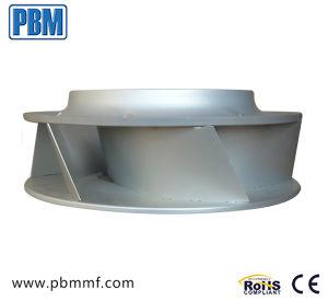 400mm ce ventilador centrífugo curvadas para trás externo para refrigeração industrial