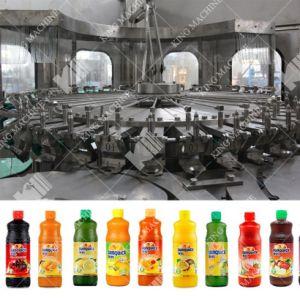 Botella automático Apple/ Piña uva / / Naranja / bebidas de jugo de pulpa de llenado de embotellado de llenado en caliente de la línea de producción