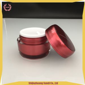 美しく赤い円形のアクリルの装飾的なローションの瓶