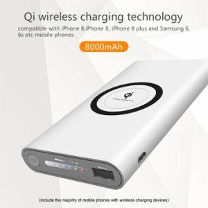 10W Qi Cargador Inalámbrico Rápido Banco de potencia con soporte para el iPhone