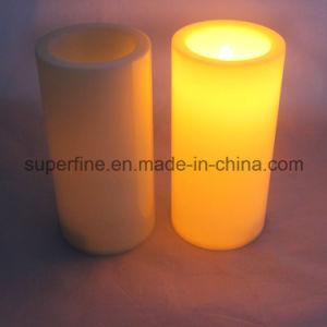 Decoração de plástico grosso Flameless Pilar da luz de velas LED