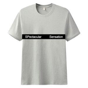 Moda masculina gola redonda Impressão Lazer DIY T-Shirts Superior