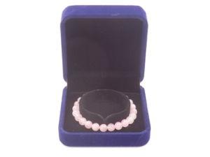 Il braccialetto prezioso della pietra preziosa del quarzo del Madagascar Rosa borda intorno alla decorazione dei monili di 6-10mm