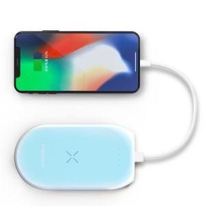 Mano perfecta sensación de Qi Wireless cargador de viaje Banco de potencia para móvil