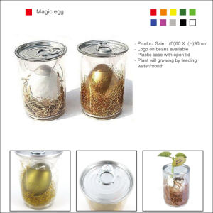 A Magia Self-Broken ovo em ouro, cores branco e prateado