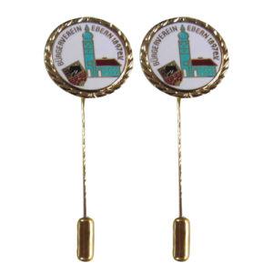 カスタム新しいデザイン長い針(184)との柔らかいエナメルの銀の事務用品の金属の折りえりPin