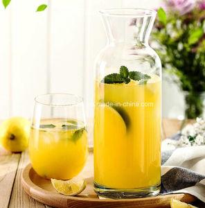 Jarro de vidro em forma de personalizar Sumo concisa e jarra de vidro de leite
