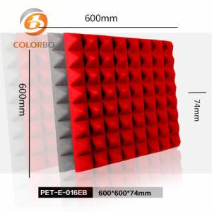 Het kleine Product van de Vezel van de Polyester van de Oppervlakte van de Vorm van de Piramide Rode Vuurvaste Geluiddichte