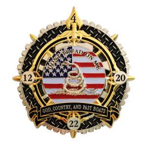 Legierungs-druckgießenandenken-Goldmünze des Zink-3D in der kundenspezifischen Form (081)