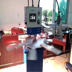 기계 로고 스크린 인쇄 기계 1 색깔을 인쇄하는 레이블 스크린