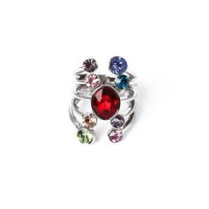 La calidad de joyas de moda más popular de color con el anillo Diamante CZ