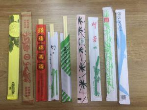 Bacchette di bambù a gettare all'ingrosso dalla Cina con il marchio dei clienti