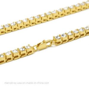 Cordón de multi-capa de agua de las cadenas de bloqueo de la cadena de garras de perforación para el hombre Collar de cristal