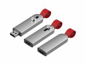 Alliage en aluminium avec la chaîne de cuir USB 2.0 Lecteur Flash de 16 Go SY116
