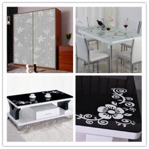 Impressão Tampografia temperado vidro decorativo para uso de mobiliário