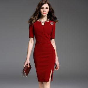 2edd39512 Oficina señoras lápiz biselado semi vestidos formales vestido de imágenes