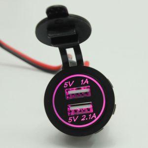 La CC 12V dello zoccolo dell'accenditore della sigaretta dell'automobile del caricatore del USB si raddoppia nuovo