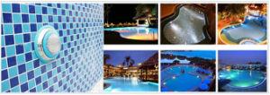 il colore di 120V 35W che cambia la piscina del LED illumina l'illuminazione subacquea per la cascata della fontana del giardino, indicatore luminoso di RGB PAR56