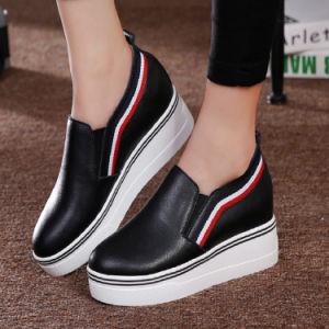 女性の革靴のプラットホームの靴(FTS1019-34)の最新のデザイン