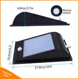 LED de 81 calle la luz solar 1000LM Waterproof Sensor de movimiento PIR La energía solar luz de pared exterior de la luz de seguridad