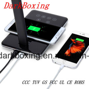 Candeeiro de mesa de telefone celular Carregador Sem Fio para iPhone Samsung Huawei Bateria