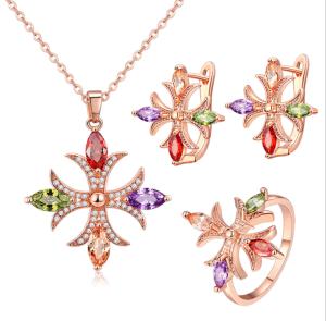 Китай оптовой 925 серебристые установить Brass Ring Earring цепочка мода Ювелирные изделия