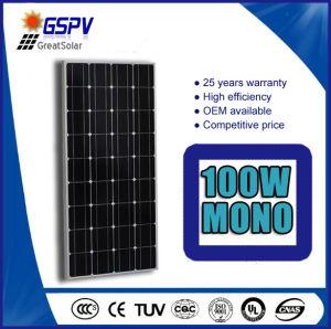 100 vatios de energía solar monocristalino off-grid Panel Solar PV