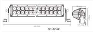 Barre lumineuse à LED double rangée 120 pouces de 120 pouces pour camion ATV hors route avec garantie de 3 ans
