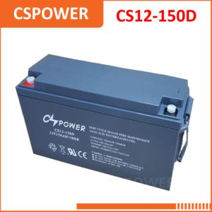 12V 150Ah Необслуживаемая аккумуляторная батарея типа VRLA свинцово-кислотного аккумулятора CS12-150D