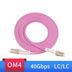 Om4 40GB/s de 100 g de cable de conexión de fibra óptica LC-LC de 1m 2m 3m 5m 10m 15m 50/125 de 2 núcleos de 2mm Fibra Optica multimodo Duplex Cable