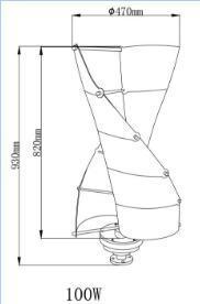 Цена генератора /Wind ветротурбины пользы 100W Naier малое домашнее