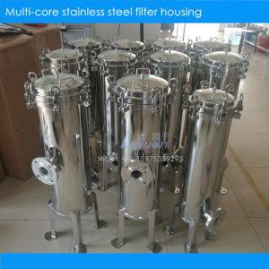 SUS304 316L gesundheitlicher Edelstahl faltete Filtergehäuse mit 20 30 40 Zoll gefalteter Wasser-Filter