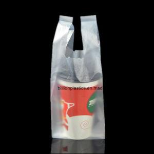 De plastic Duidelijke T-shirt Kleinhandels drinkt de Zakken van de Drank van de Coca van de Koffie van de Thee