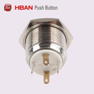 19мм плоской круглой металлической LED кольцо кнопочный выключатель освещения