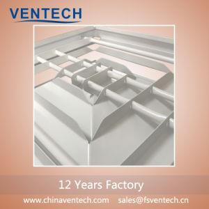 Fabriqué en Chine Ventech aluminium carré à 4 voies diffuseur Air de retour