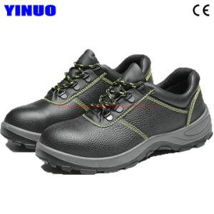 Cuir véritable Steel Toe Hommes Chaussures de sécurité de travail