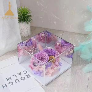 La Chine menant à l'acrylique boîte fleur fournisseur
