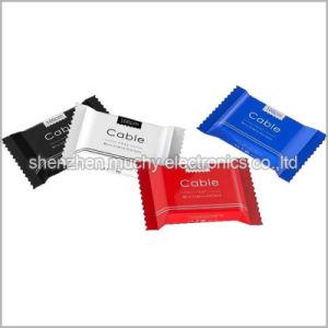Кабель для зарядки мобильного телефона с красочными конфеты упаковки для iPhone