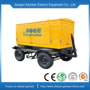 디젤 엔진 발전기를 가진 이동할 수 있는 가벼운 휴대용 발전기 4*400watts 빛