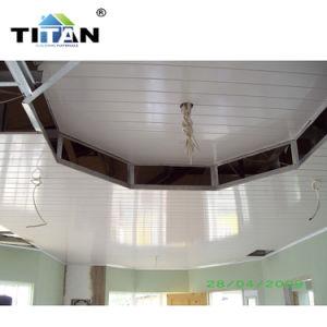 Le Ghana haut brillant décoratifs en PVC contenant des panneaux de plafond 40FT