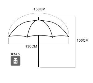 Doppio ombrello di golf del baldacchino antivento