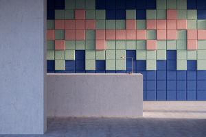 Laine de Bois carré Sound-Absorbing panneau mural avec fonction décorative