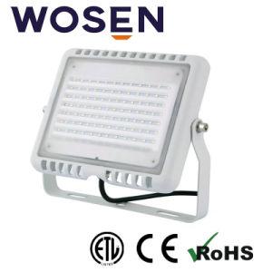 100W 24V SMD Refond Lm80 LEDのセリウムが付いている屋外の据え付け品のための正方形の屋外の洪水ライト