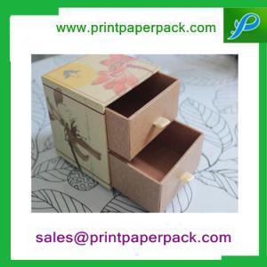 La parte superior elegante tirar papel cartón Two-Story Cajón caja, caja de almacenamiento de envases de joyería