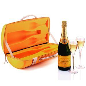De Doos van het Geval van de Carrier van de Fles van EVA Champagne van de douane voor Veuve Clicquot
