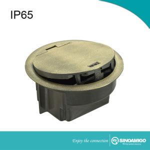 Impermeabilizzare schioccano in su il contenitore in lega di zinco di presa di corrente del pavimento
